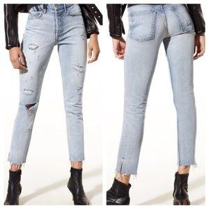 GRLFRND Karolina High Distressed Skinny Jeans NWT
